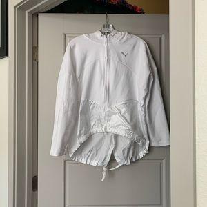 Puma White Sweatshirt/windbreaker Size Medium